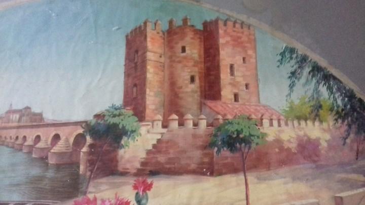 Arte: CASTILLO DE CALAHORRA. PAÍS DE ABANICO PINTADO AL ÓLEO SOBRE TELA. - Foto 3 - 113299371