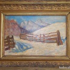 Arte: OLEO SOBRE TABLILLA TABLEX ESCUELA ALEMANA XIX // OIL PAINT WOOD XIX GERMANY. Lote 113334271