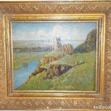 Arte: OLEO SOBRE CARTON ESCUELA INGLESA XIX JOHN C. WALLIS // OIL PAINT ENGLAND. Lote 113336143