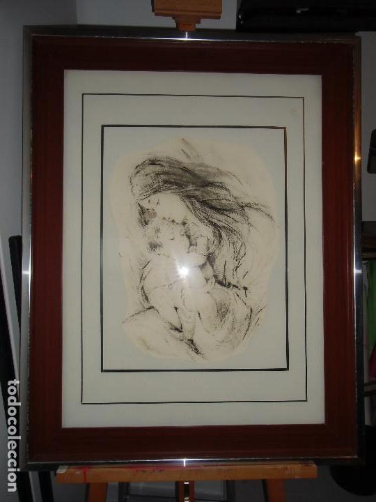 EXTRAORDINARIO CUADRO VINTAGE: MATERNIDAD (Arte - Pintura - Pintura al Óleo Contemporánea )