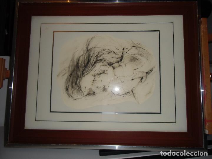 Arte: Extraordinario cuadro vintage: Maternidad - Foto 3 - 113361151