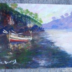 Arte: OLEO SOBRE TABLILLA M.BEZARES. Lote 113392355