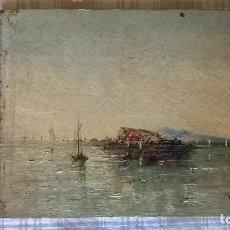 Arte: ÓLEO SOBRE MADERA.MEDIDA 16,5X13.FIRMADA Y FECHADA 1891. Lote 113399095