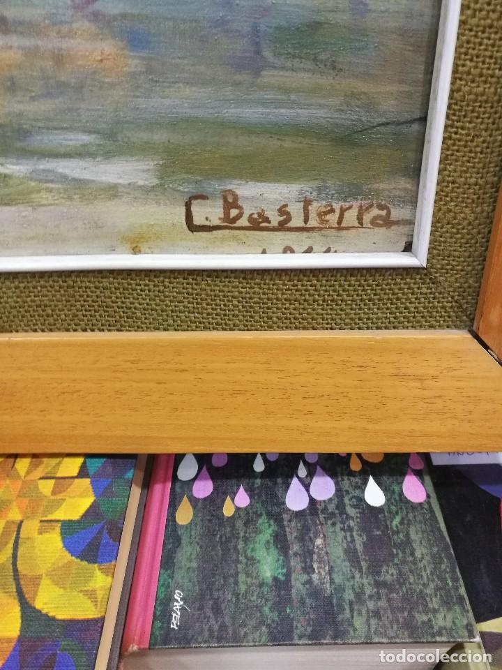 Arte: Oleo sobre tabla autor carmelo basterra ortiz de montoya -el zadorra a su paso po villodas(alava) - Foto 2 - 113402871