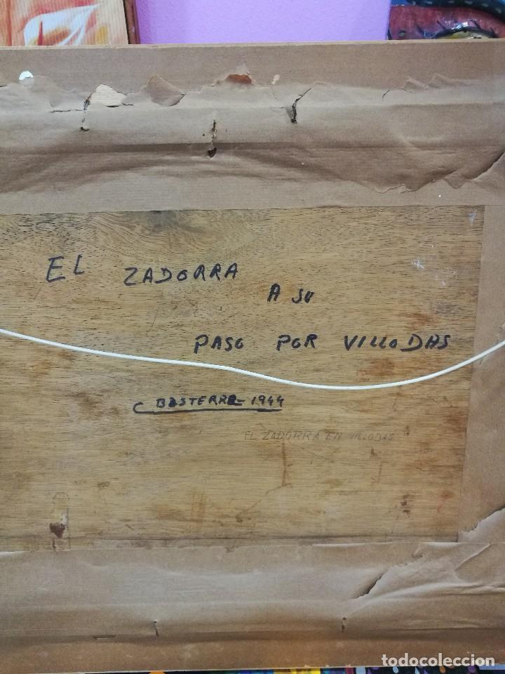 Arte: Oleo sobre tabla autor carmelo basterra ortiz de montoya -el zadorra a su paso po villodas(alava) - Foto 7 - 113402871