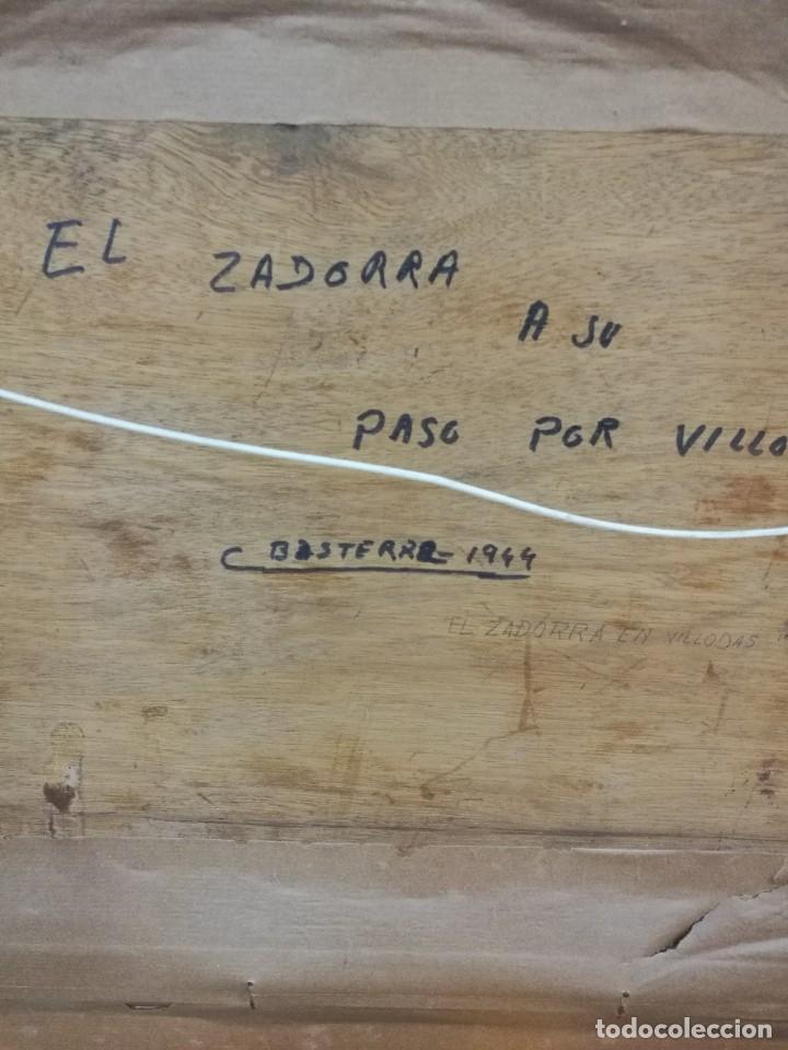 Arte: Oleo sobre tabla autor carmelo basterra ortiz de montoya -el zadorra a su paso po villodas(alava) - Foto 8 - 113402871