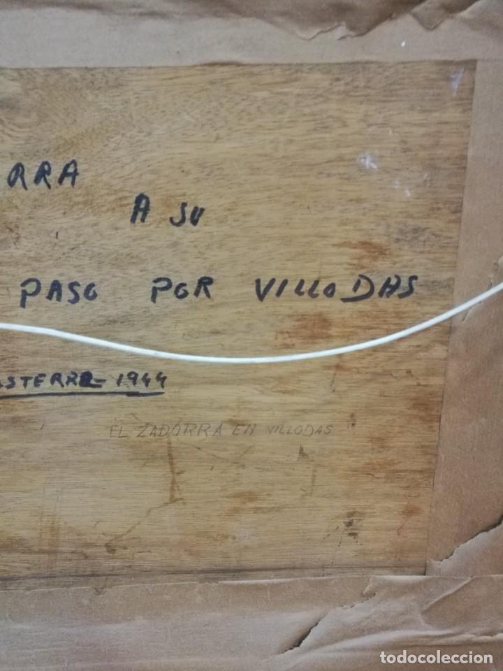 Arte: Oleo sobre tabla autor carmelo basterra ortiz de montoya -el zadorra a su paso po villodas(alava) - Foto 9 - 113402871