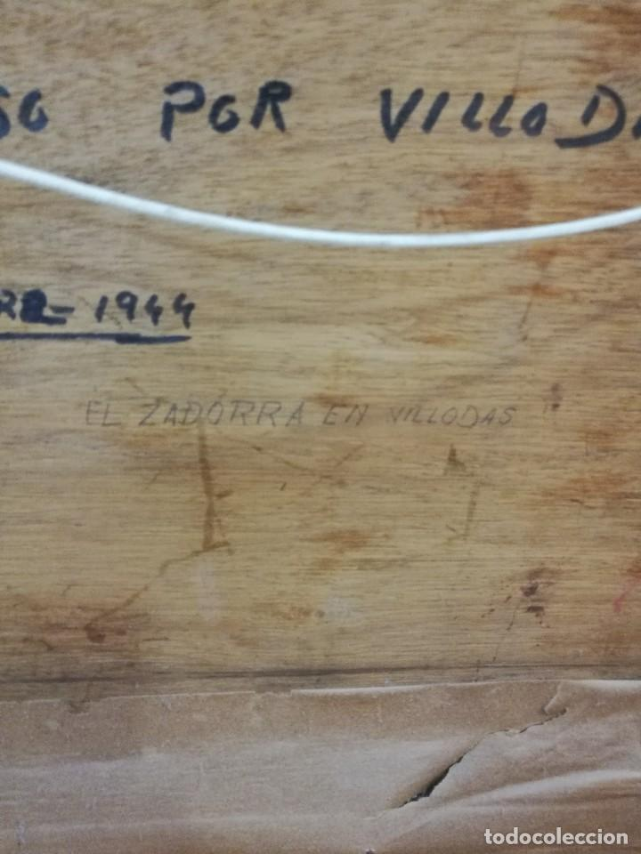 Arte: Oleo sobre tabla autor carmelo basterra ortiz de montoya -el zadorra a su paso po villodas(alava) - Foto 10 - 113402871