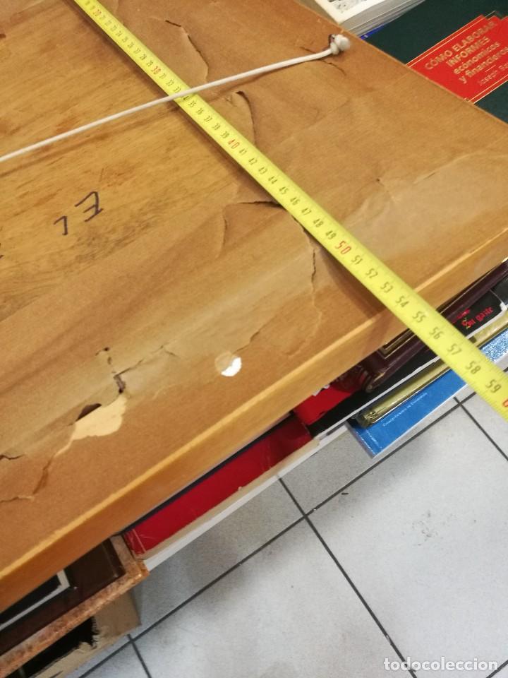 Arte: Oleo sobre tabla autor carmelo basterra ortiz de montoya -el zadorra a su paso po villodas(alava) - Foto 12 - 113402871