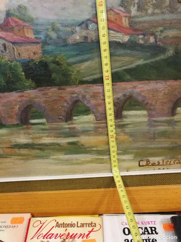 Arte: Oleo sobre tabla autor carmelo basterra ortiz de montoya -el zadorra a su paso po villodas(alava) - Foto 14 - 113402871