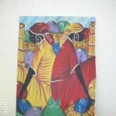 Arte: ANTIGUO CUADRO OLEO AFRICANO, ORIGINAL Y FIRMADO B. MARCO. MUJERES DE AFRICA.. Lote 113425919