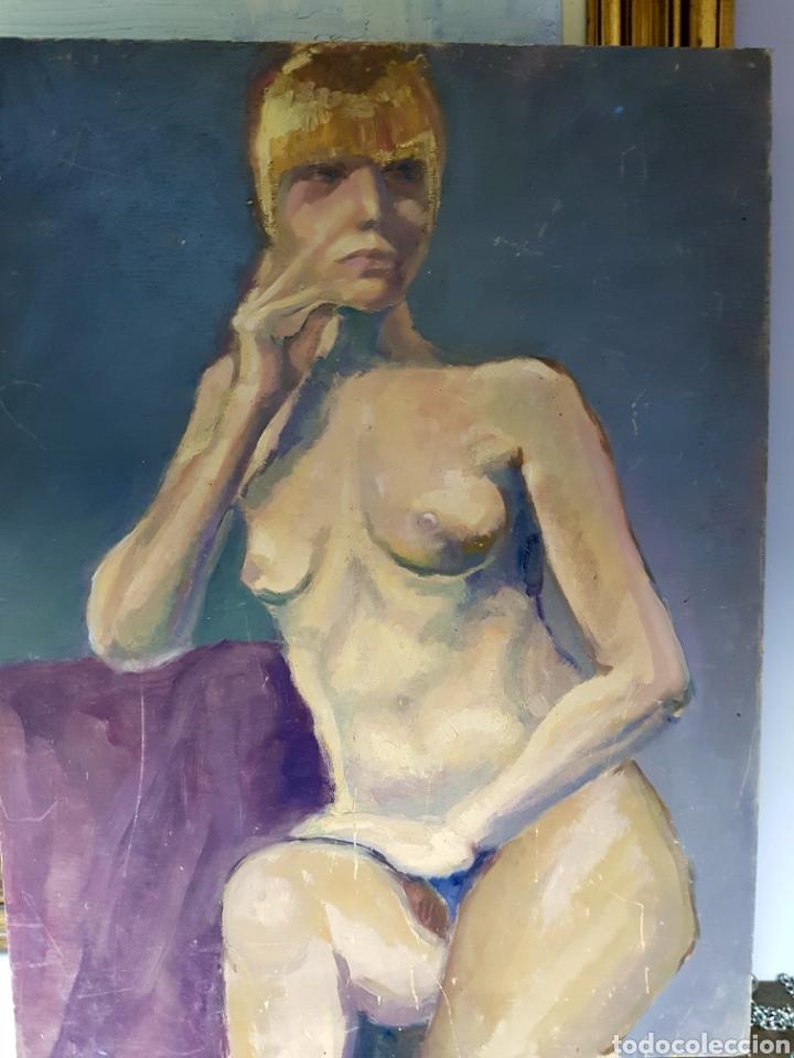 OLEO SOBRE TABLA, DESNUDO FEMENINO (Arte - Pintura - Pintura al Óleo Contemporánea )