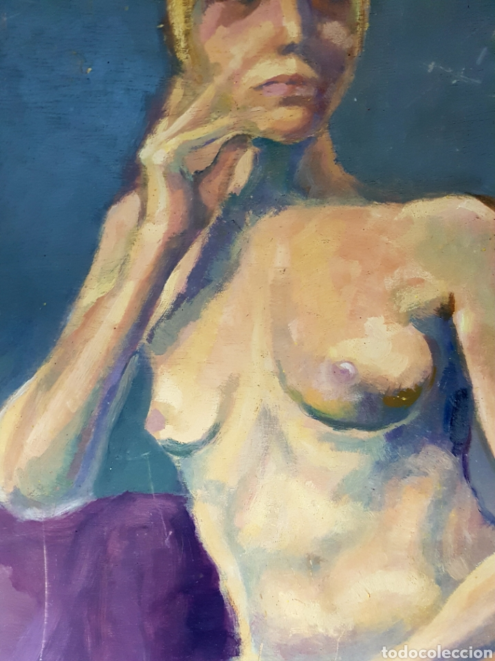 Arte: OLEO SOBRE TABLA, DESNUDO FEMENINO - Foto 2 - 113440376