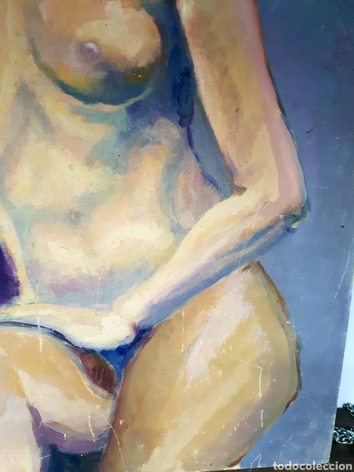 Arte: OLEO SOBRE TABLA, DESNUDO FEMENINO - Foto 3 - 113440376