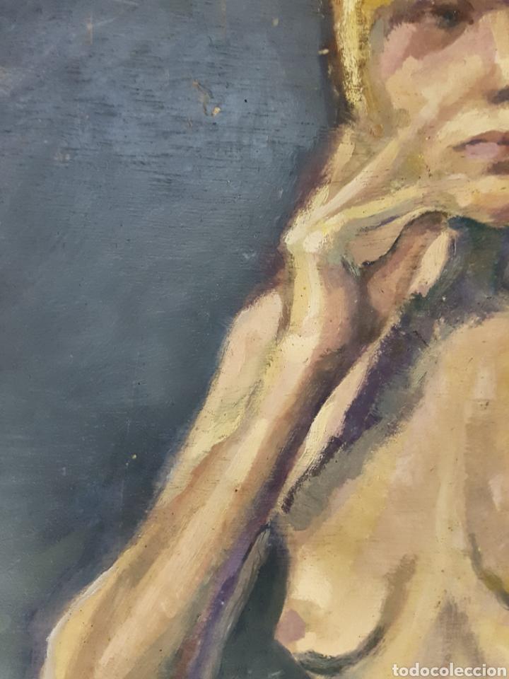 Arte: OLEO SOBRE TABLA, DESNUDO FEMENINO - Foto 4 - 113440376