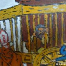 Arte: EL ARRESTO DE EL QUIJOTE PINTURA ORIGINAL DE PACO CRESPO LIQUIDACIÓN OPORTUNIDAD. Lote 113551879