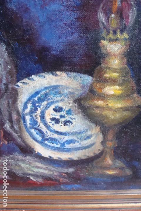 Arte: Óleo sobre lienzo. Bodegón - Siglo XX - Foto 3 - 113580591