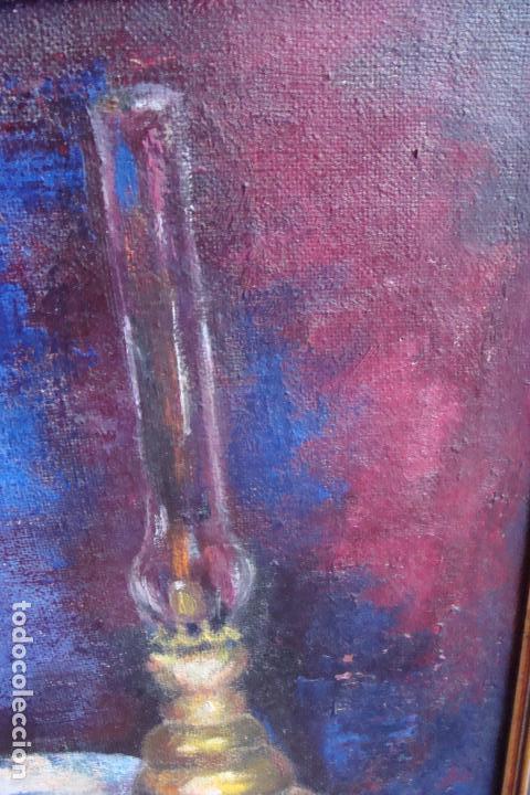 Arte: Óleo sobre lienzo. Bodegón - Siglo XX - Foto 5 - 113580591