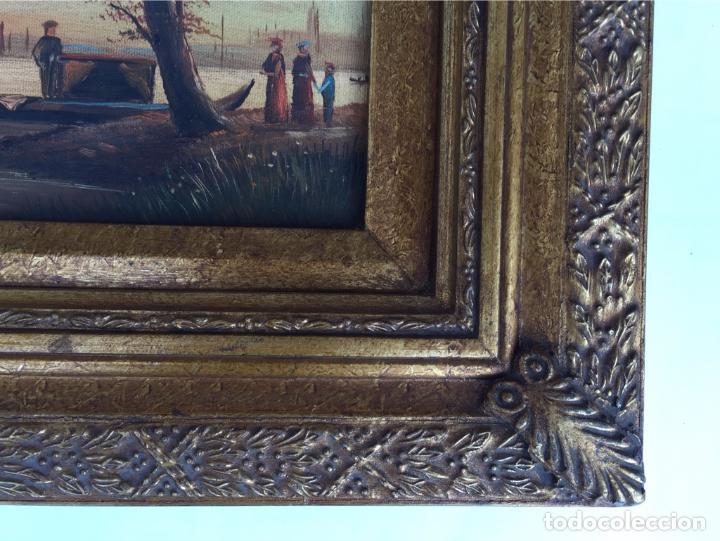 pareja cuadros oleo sobre lienzo enmarcado made - Comprar Pintura al ...