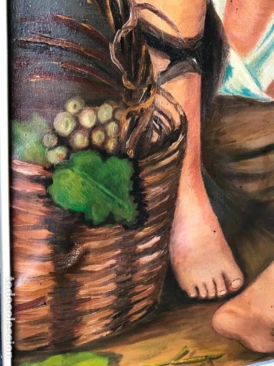 Arte: copia al oleo de Niños comiendo uvas y melón de murillo 60 x 80 cm - Foto 3 - 113634063