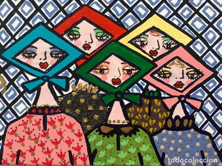 Arte: Pintura figurativa títulada JARABANDINAS CON PAÑUELOS serie Made in Medina de Ruth Calderin - Foto 2 - 113693623