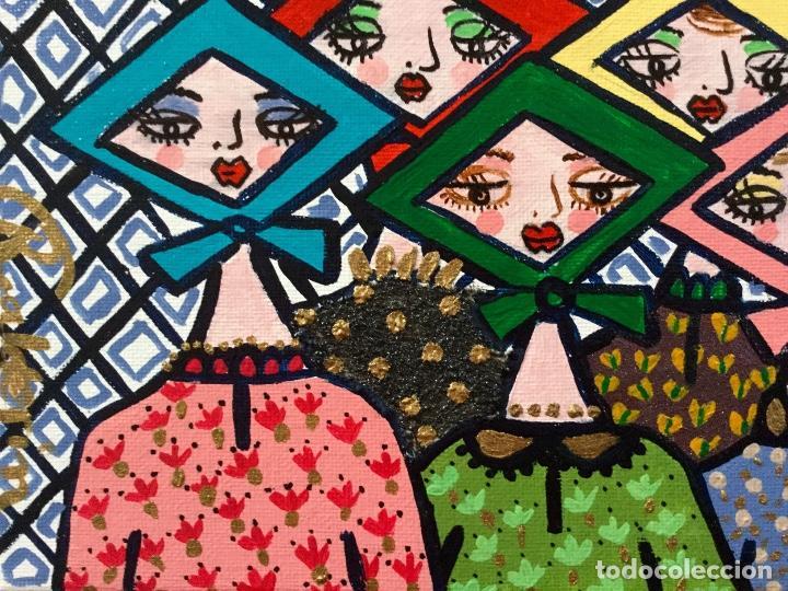 Arte: Pintura figurativa títulada JARABANDINAS CON PAÑUELOS serie Made in Medina de Ruth Calderin - Foto 3 - 113693623