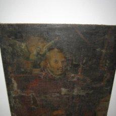 Arte: ÓLEO RELIGIOSO ANTIGUO. MEDIDAS 120X94 CM. HAY QUE RESTAURARLO. Lote 113708543