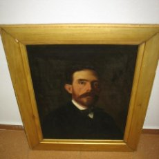 Arte: BONITO RETRATO DE CABALLERO. REUS 26 JUNIO 1888. FIRMADO F. BOFARULL. MEDIDAS ÓLEO 51X64 CM Y 81X68. Lote 113710003