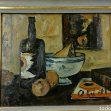 Arte: ALCEU RIBEIRO ÓLEO BODEGÓN BALEARES MALLORCA. Lote 113765947