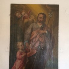 Arte: OLEO SAN JOSE (PARA RESTAURAR). Lote 113833264
