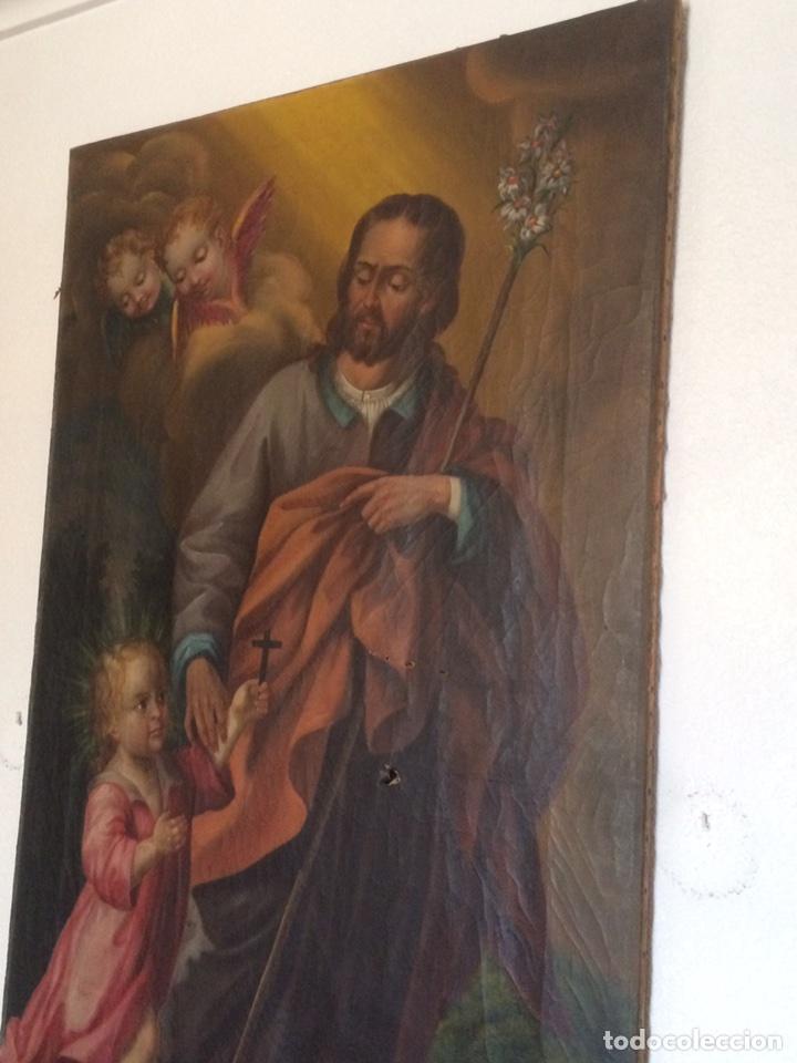 Arte: Oleo san jose (para restaurar) - Foto 2 - 113833264