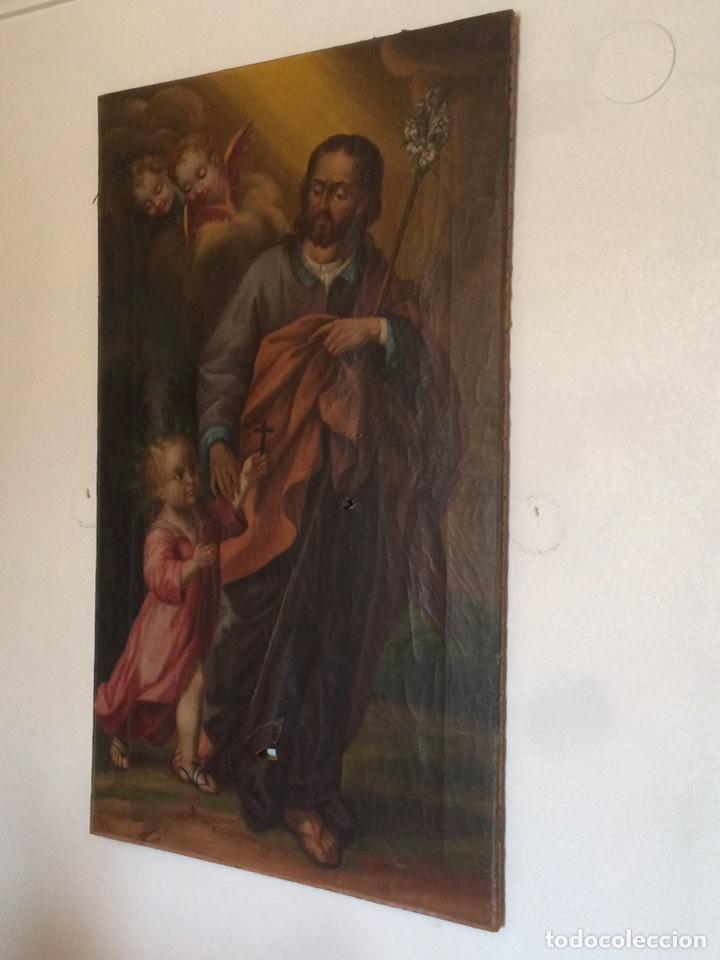 Arte: Oleo san jose (para restaurar) - Foto 3 - 113833264