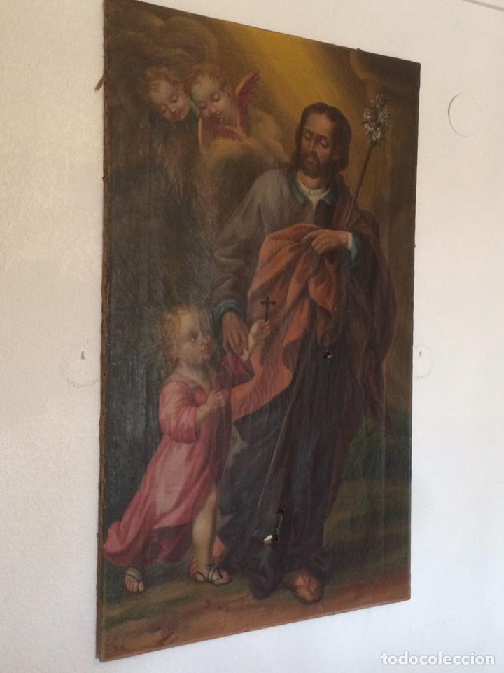 Arte: Oleo san jose (para restaurar) - Foto 4 - 113833264