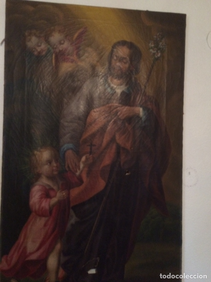 Arte: Oleo san jose (para restaurar) - Foto 14 - 113833264