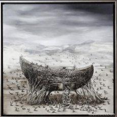 Arte: BENITEZ MONTILLA-OLEO SOBRE TABLA-100X100 CM -EL ARCA. Lote 113885475