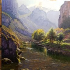 Arte: OLEO ,DESFILADERO DE URDÓN 81CM X 65CM. Lote 113890783