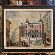 Arte: VISTA DEL RASTRO DE MADRID, JOSE RAMON MURO. Lote 122812856