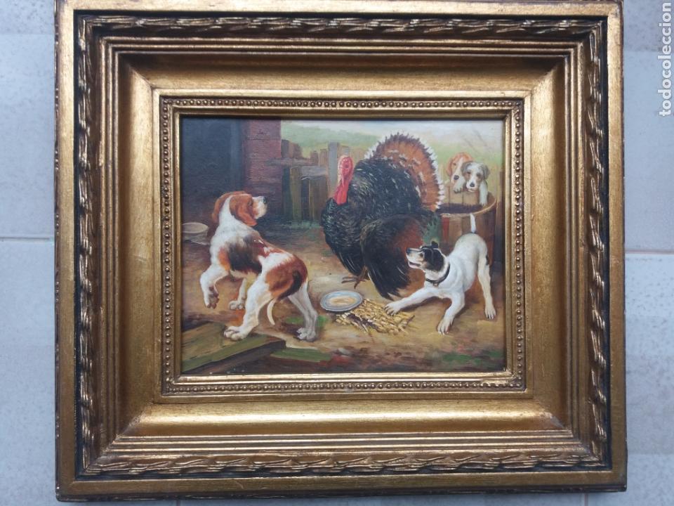 cuadro pintura al oleo sobre tabla enmarcado ma - Comprar Pintura al ...