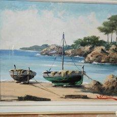 Arte: PINTURA AL ÓLEO MARINA AUTOR XIFRÉ. Lote 114153450