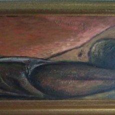 Arte: JESUS DIAZ FERRER - OLEO SOBRE TABLEX 116X38 CM. Lote 114166259