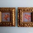 Arte: PAREJA DE ÓLEOS QUERUBINES AÑOS 20, 30, ANGELOTES, MODERNISTA, ART DECO, ART NOUVEAU,. Lote 114167622