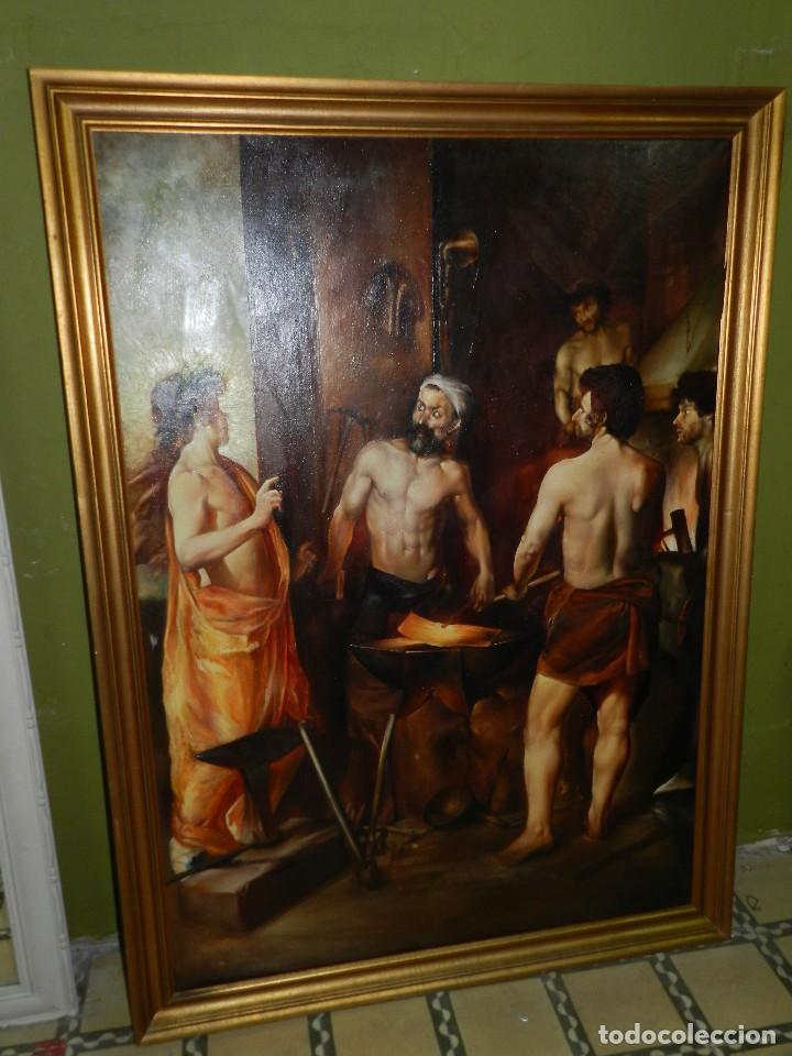 bf) cuadro oleo del s.xx - copia del cuadro d - Comprar Pintura al ...