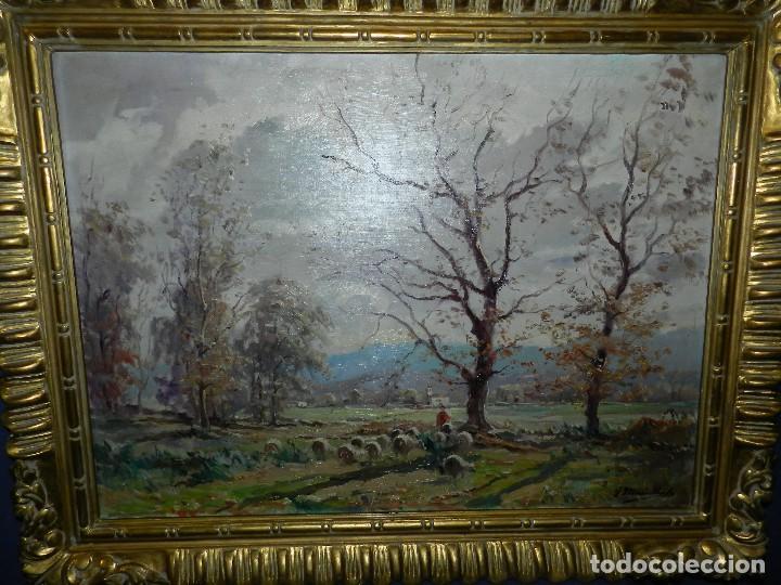 (BF) CUADRO OLEO PAISAJE FIRMADO JOAQUIN MARSILLACH ( OLOT - GERONA 1905 - 1986 ) (Arte - Pintura - Pintura al Óleo Antigua sin fecha definida)