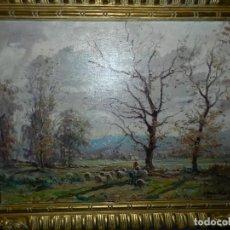 Arte: (BF) CUADRO OLEO PAISAJE FIRMADO JOAQUIN MARSILLACH ( OLOT - GERONA 1905 - 1986 ). Lote 114192371