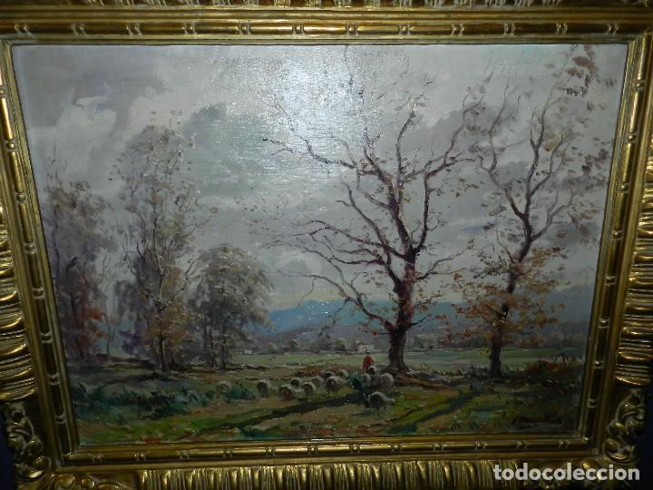 Arte: (BF) CUADRO OLEO PAISAJE FIRMADO JOAQUIN MARSILLACH ( OLOT - GERONA 1905 - 1986 ) - Foto 2 - 114192371