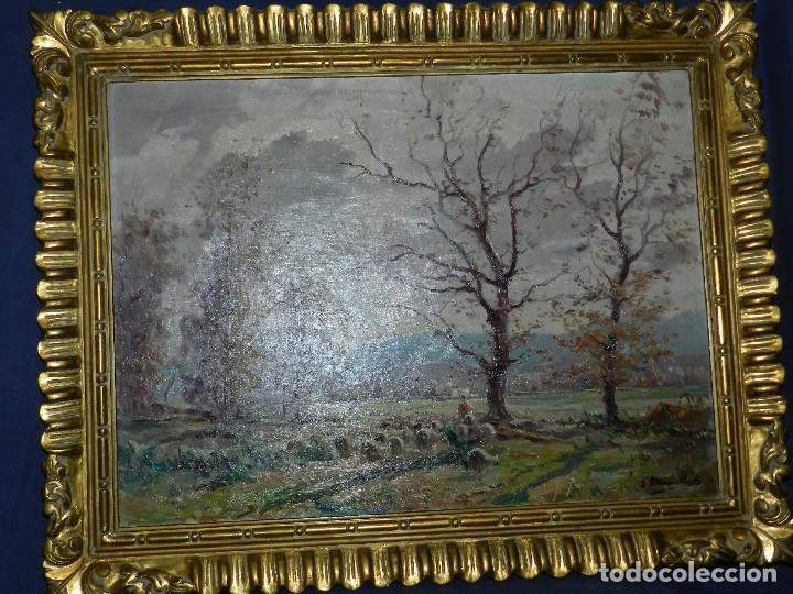 Arte: (BF) CUADRO OLEO PAISAJE FIRMADO JOAQUIN MARSILLACH ( OLOT - GERONA 1905 - 1986 ) - Foto 12 - 114192371