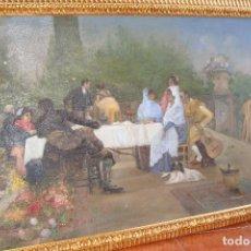 Arte: ÓLEO SOBRE LIENZO FIESTA FLAMENCA - FIRMADO - SIGLO XX. Lote 114261527