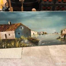 Arte: BONITO PAISAJE DE BARRACAS, FIRMADO, 130X60. Lote 114299239