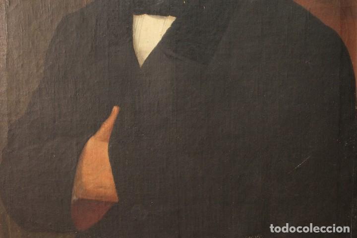 Arte: Antigua pintura al óleo sobre lienzo con retrato de gentilhombre - Foto 6 - 114361203