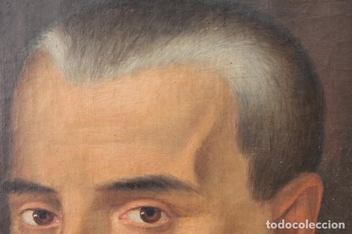 Arte: Antigua pintura al óleo sobre lienzo con retrato de gentilhombre - Foto 7 - 114361203